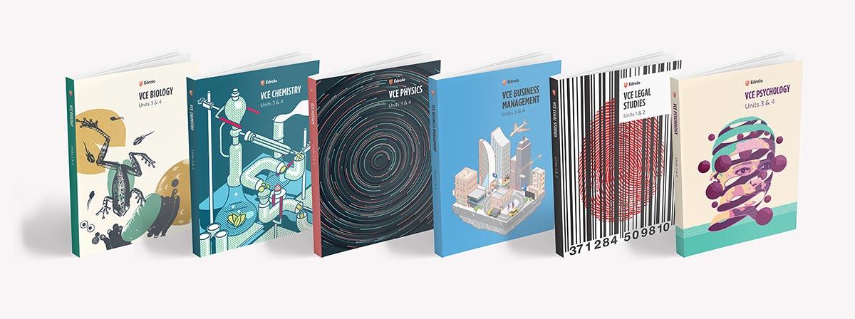 Four Edrolo textbooks